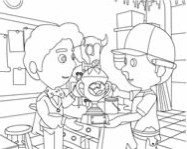 Handy Manny coloring online