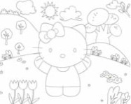 Hello Kitty online coloring page kifest� j�t�kok