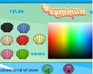 Summer Mermaid coloring online kifest� j�t�k
